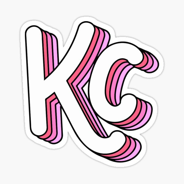 Retro KC (Pink) Sticker