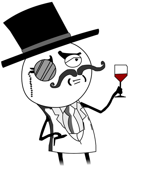 Quot Monocle Guy Meme Lulzsec Quot Stickers By Raudius Redbubble