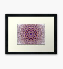 Bright Coloured Lace Framed Print