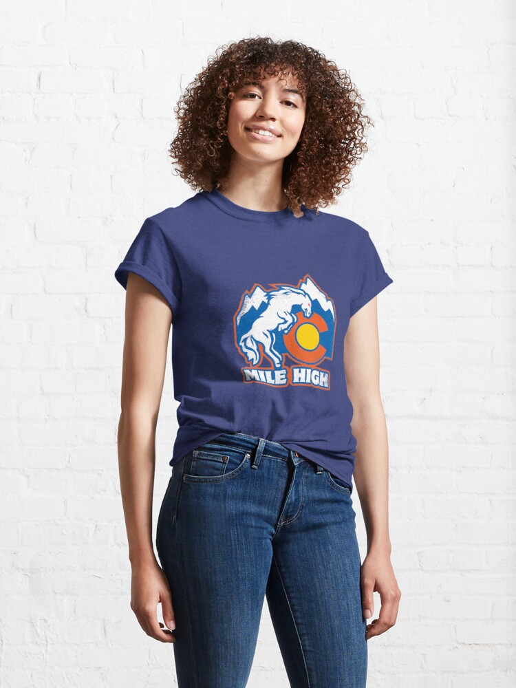 Alternate view of Mile High Bronco Classic T-Shirt