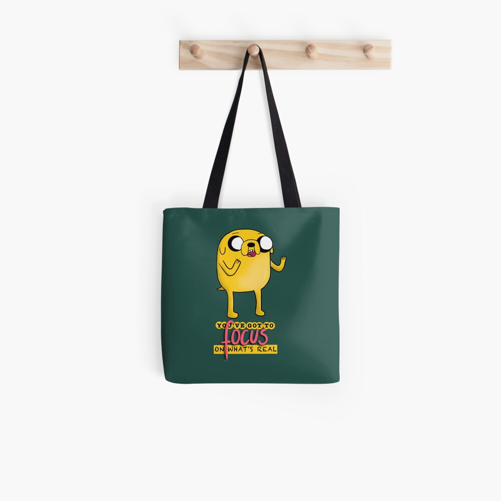 Jake The Dog Quote Dark Tote Bag