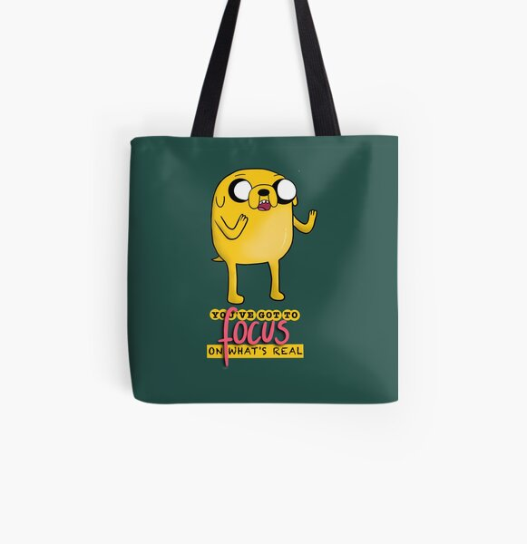 Jake The Dog Quote Dark All Over Print Tote Bag
