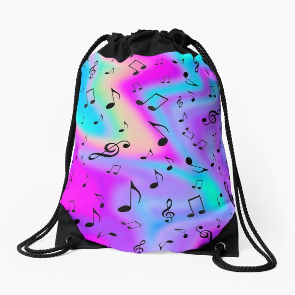 Drunk on Music  Drawstring Bag