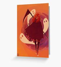 Reaper Girl in the Desert Greeting Card