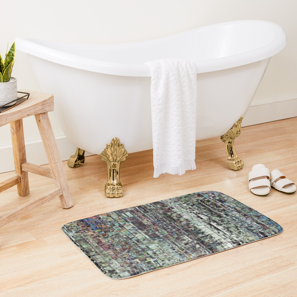 Abstract Chaotic Pattern Bath Mat