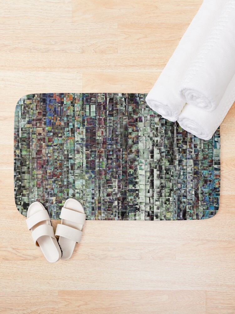 Alternate view of Abstract Chaotic Pattern Bath Mat