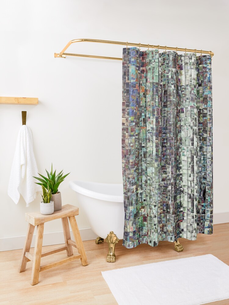 Alternate view of Abstract Chaotic Pattern Shower Curtain