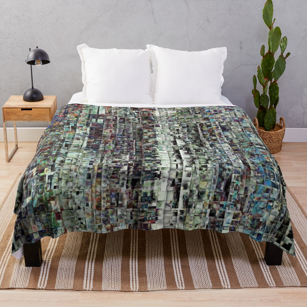 Abstract Chaotic Pattern Throw Blanket