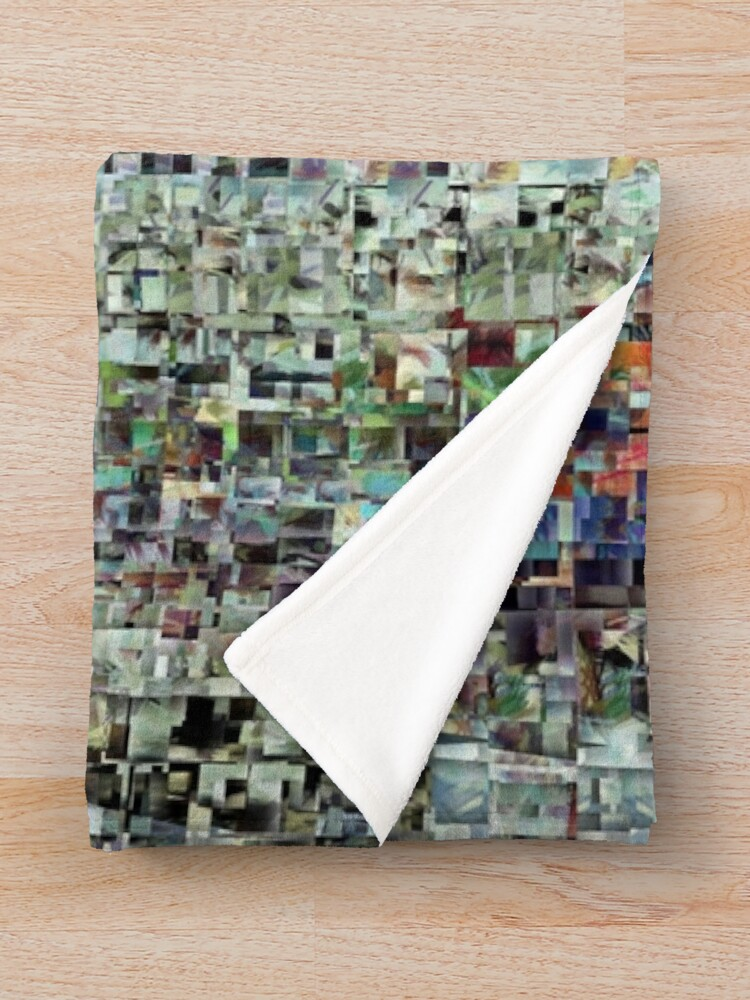 Alternate view of Abstract Chaotic Pattern Throw Blanket