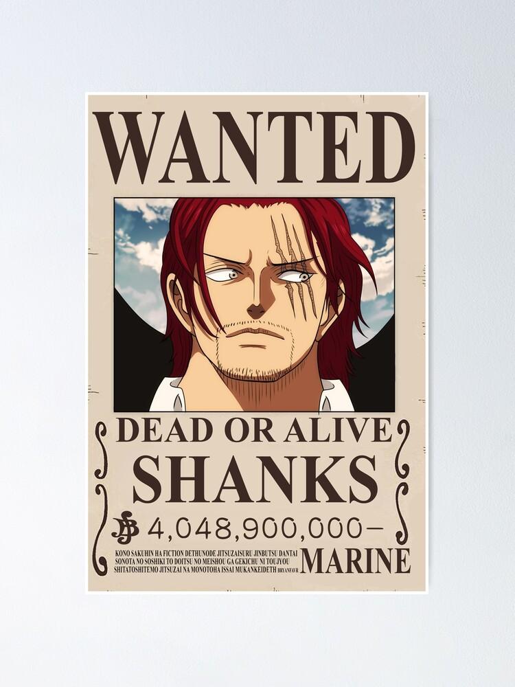 Shanks Bounty Poster