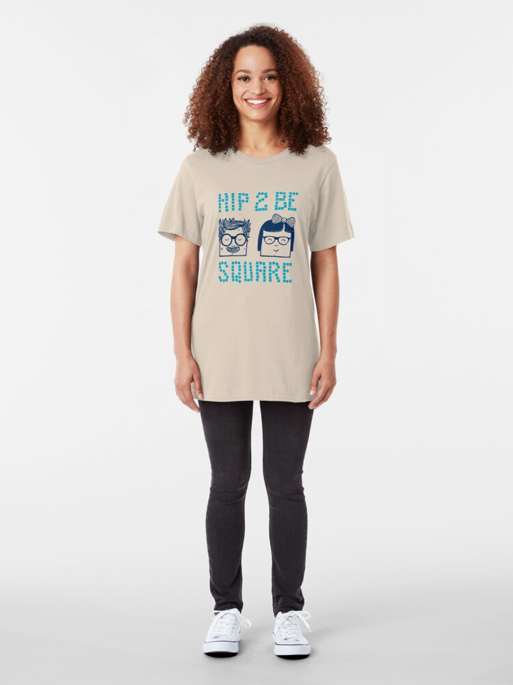 Alternate view of Hip 2 Be Square Slim Fit T-Shirt