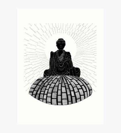 56 - BUDDHA DESIGN - DAVE EDWARDS - INK - 1982 Art Print