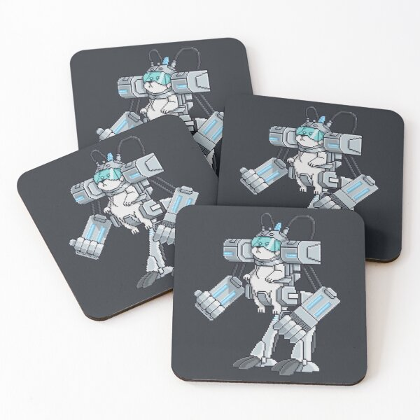 Where Are My Testicles - Mecha Snuffles - Rick and Morty Coasters (Set of 4)