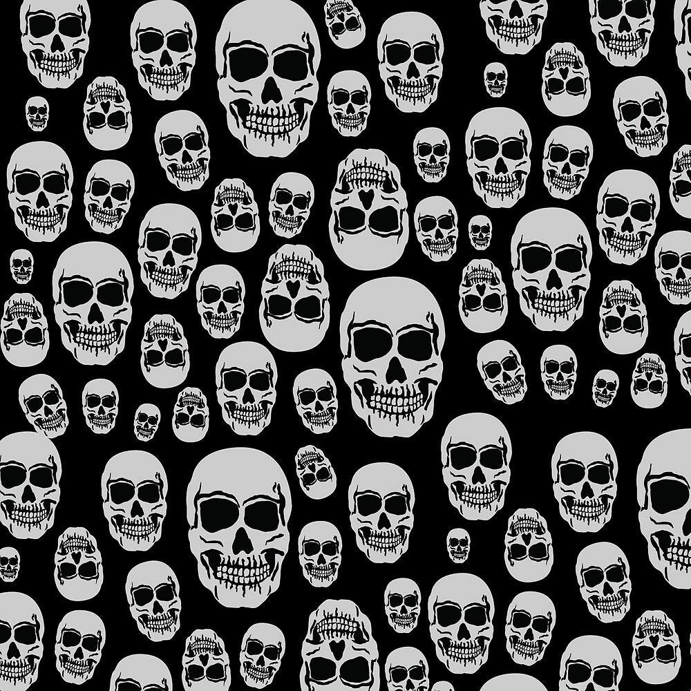 Wall Of Skulls by lunaelizabeth