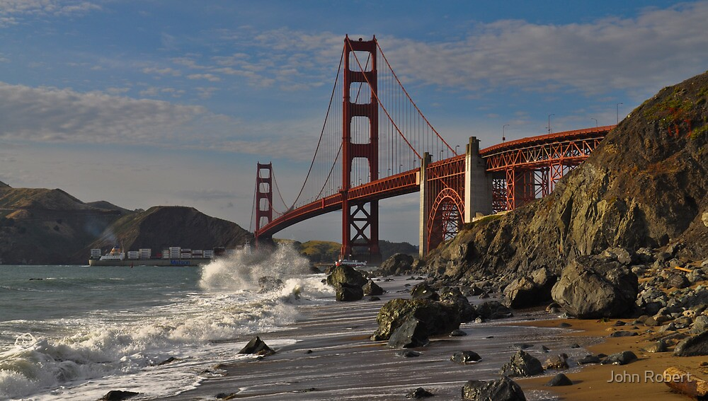 Golden Gate Splash 2 by Bob Moore
