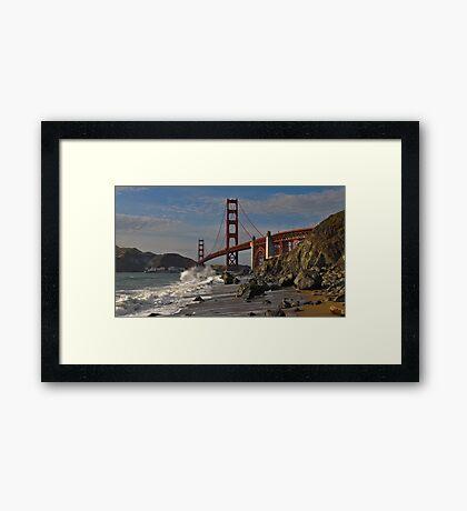 Golden Gate Splash 2 Framed Print