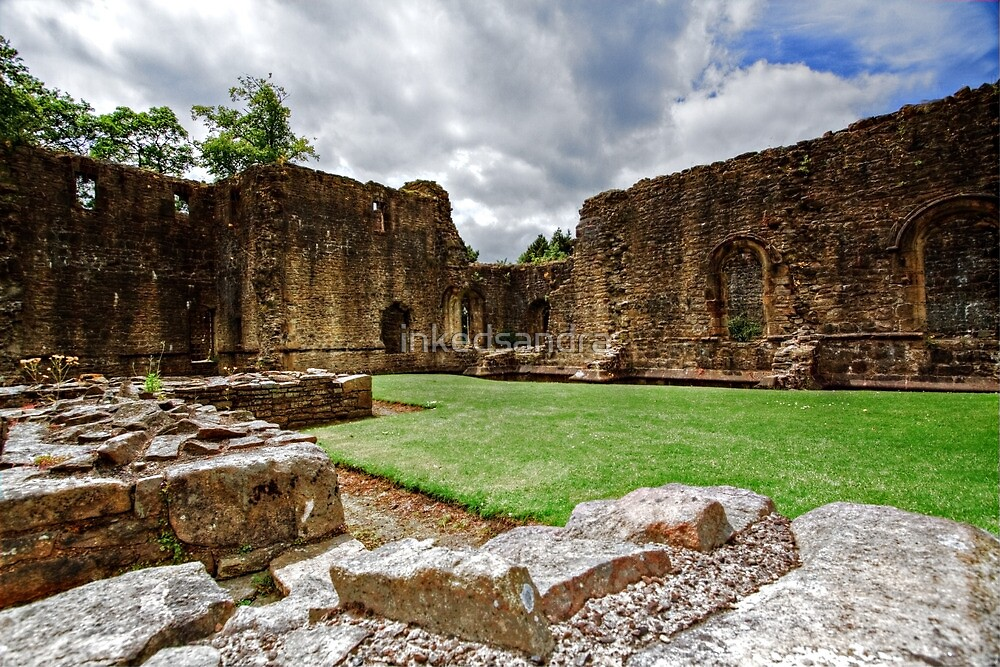 Whalley Abbey Ruins by inkedsandra