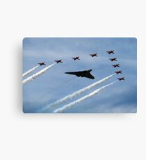Vulcan and Red Arrows Canvas Print