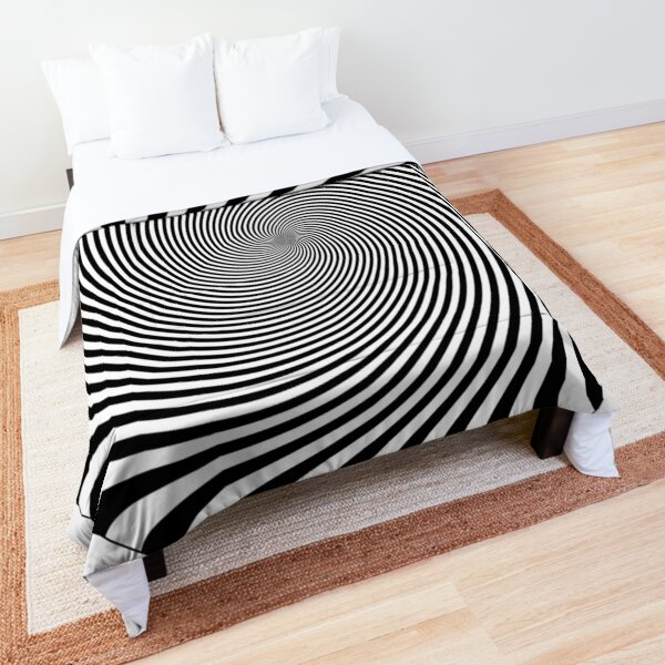 #hypnosis, #vortex, #illusion, #design, pattern, art, abstract, illustration, psychedelic, nature, spiral, twist, creativity Comforter