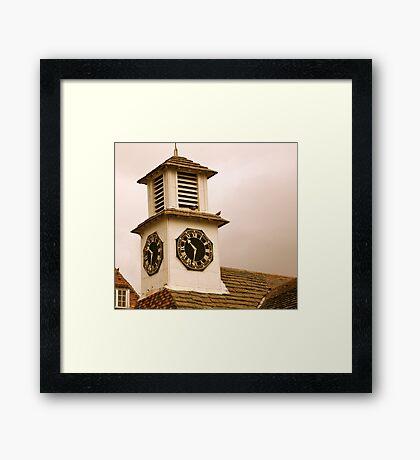 Old Clock Tower Framed Print