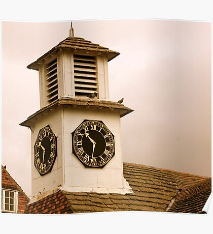 Old Clock Tower Poster