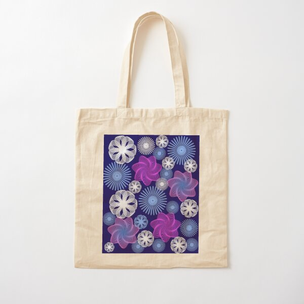 Dancing Spirographs Cotton Tote Bag