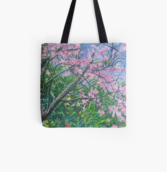 Vern's Joshua tree from an oil painting by Jo Reitze All Over Print Tote Bag