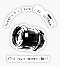 Nikkor 105mm Black Old love never dies! Sticker
