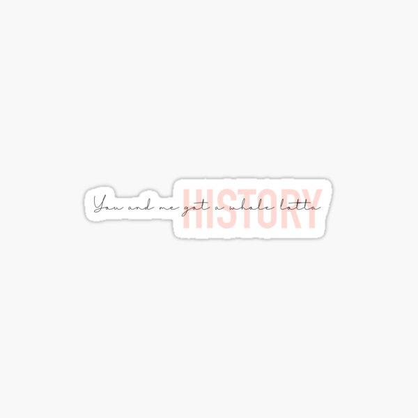 1D History MITAM Illustrative piece Sticker