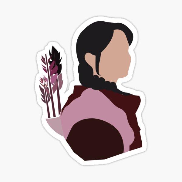 Girl with Arrow Sticker