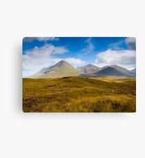 Skye  mountain scenery Canvas Print