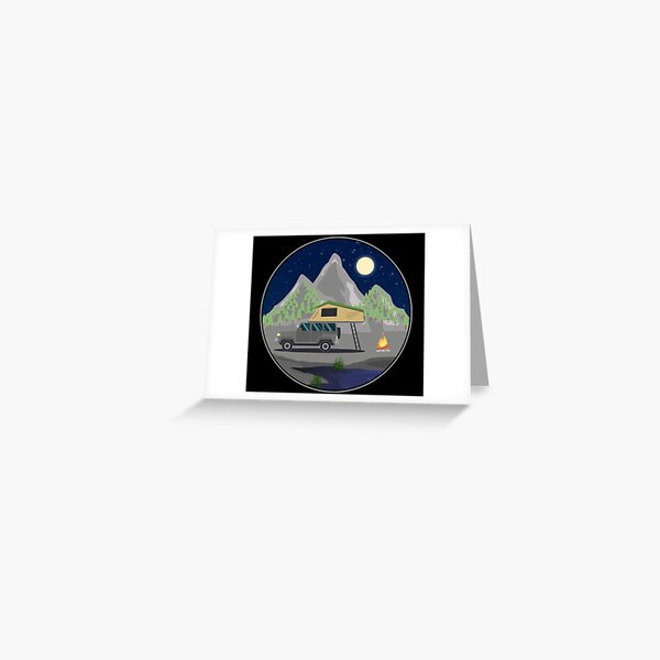 Starry sky roof tent - roof tent outdoor gift for campers nature lovers nature Greeting Card