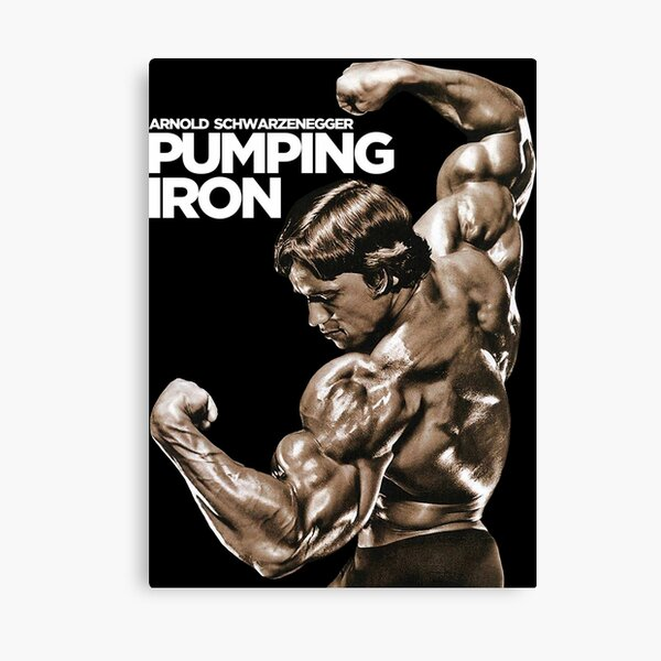 Arnold Schwarzenegger Classic Pumping Iron Canvas Print