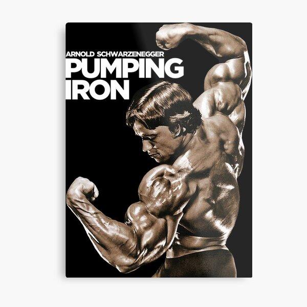 Arnold Schwarzenegger Classic Pumping Iron Metal Print