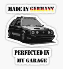 Made in Germany perfected in My Garage Sticker
