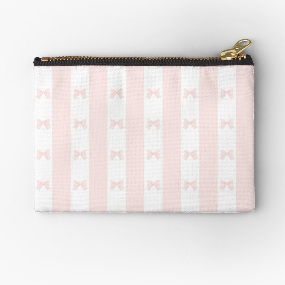 Ribbon Ribbon Stripes Zipper Pouch