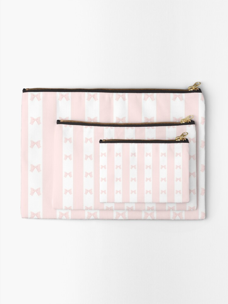 Alternate view of Ribbon Ribbon Stripes Zipper Pouch
