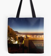 Camps bay Nightscape panorama Tote Bag