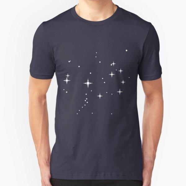 Pleiades Star Cluster - Constellation Illustration Slim Fit T-Shirt