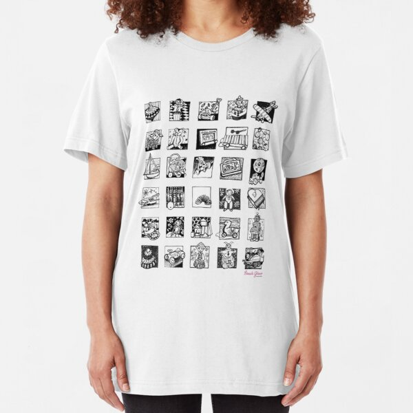 Vintage Toy Collection Slim Fit T-Shirt