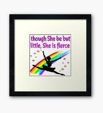 DAZZLING AND DYNAMIC DANCER DESIGN Framed Print