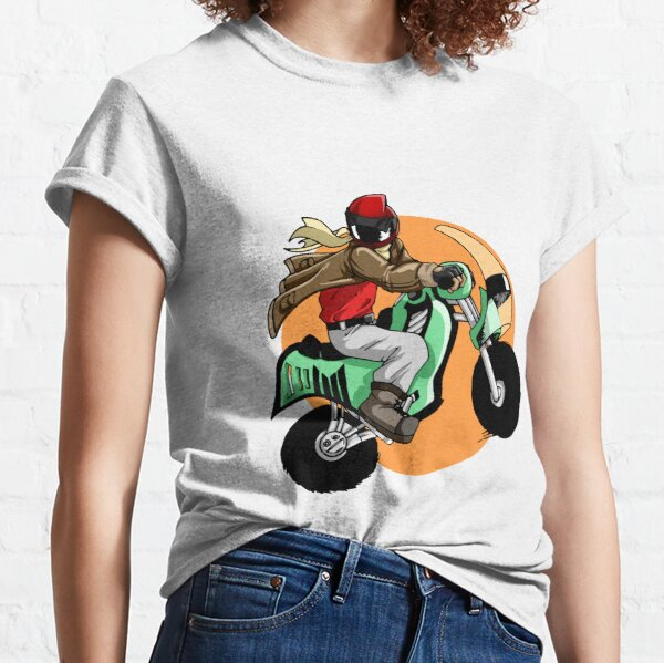Motorcyclist leaping through the air Classic T-Shirt