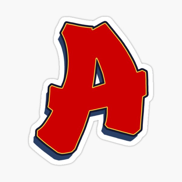 Letter A - Red Sticker