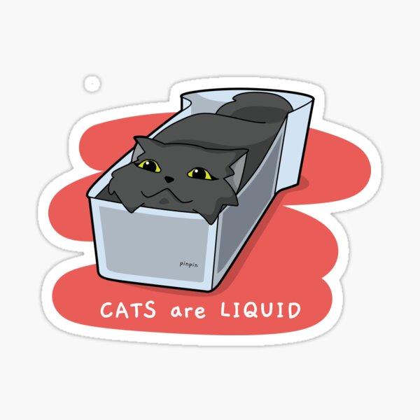 Pinpin Cat - Les chats sont un design drôle et liquide Sticker