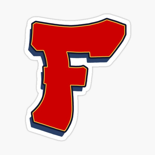 Letter F - Red Sticker