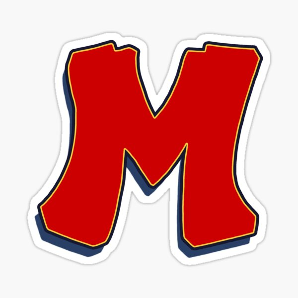 Letter M - Red Sticker