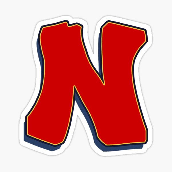 Letter N - Red Sticker