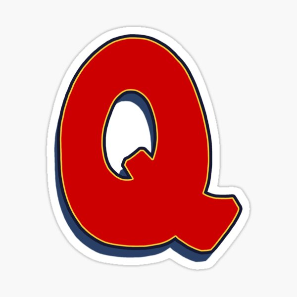 Letter Q - Red Sticker