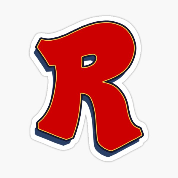 Letter R - Red Sticker