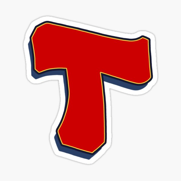 Letter T - Red Sticker